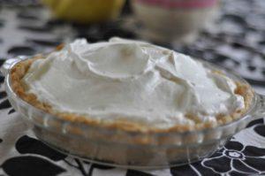 lemon sour cream pie finished