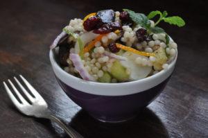 autumn israeli couscous salad