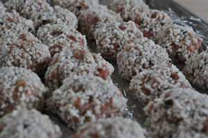 porcupine balls before steaming