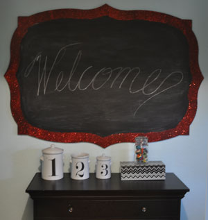 "the fancy rectangular blackboard (5'-0""x3'-6"")"