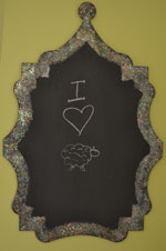 the small curvy blackboard