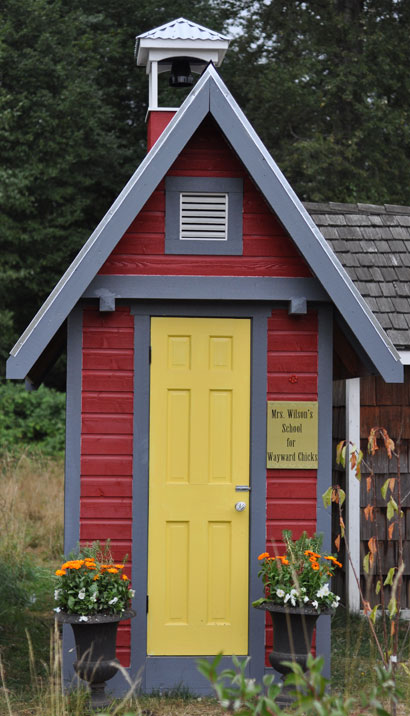 front elevation of the chicken coop