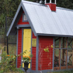side view of chicken coop