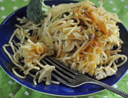brocolli noodlepanpie