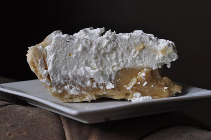 Portrait of a butterscotch pie slice #1