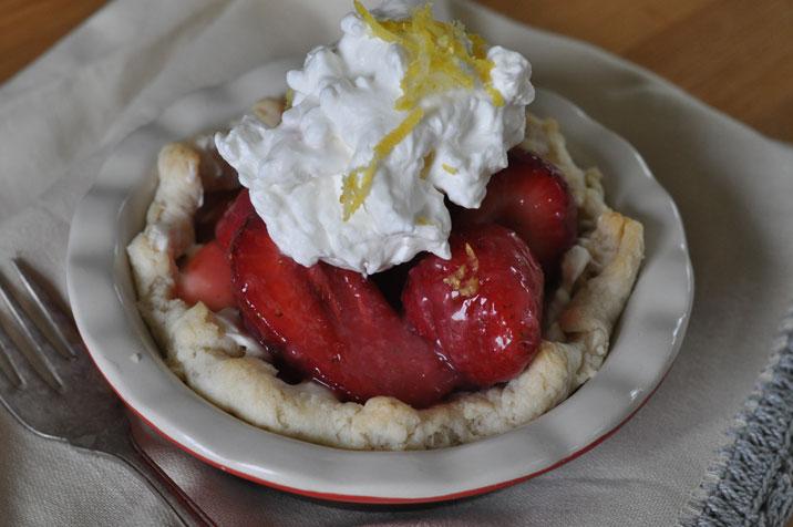 Strawberry Lemon Cream Cheese Pie